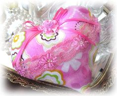 Sachet Heart Heart Sachet Pink Print with by CharlotteStyle, $12.50