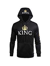 Jumojufol Womens Couple Sweatshirt Casual King Queen Pullover Hoodie Fashion Hoodies, King Queen, Graphic Sweatshirt, Pullover, Couples, Sweatshirts, Casual, Sweaters, Women