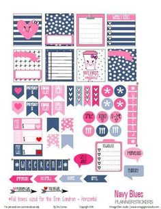 Hello peeps! I'm still on the planner stickers roll and so, for today's freebie I used a monochromatic color theme in a variety of pinks and grey. These were a lot of fun to design, but I have only in