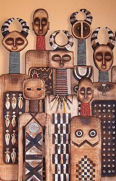 Tribal carvings of Robyn Gordon Afrique Art, Arte Do Kawaii, Art Tribal, Tribal People, People Art, Art Africain, Art Brut, Arte Popular, African Masks