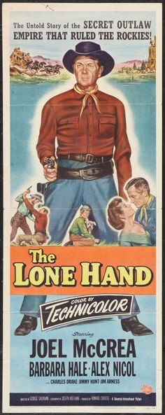 "Movie Posters:Western, The Lone Hand (Universal, 1953). Insert (14"" X 36""). Western.. ... Image #1"