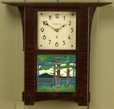"Arts & Crafts 6"" Tile Wall Clock"