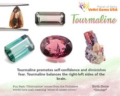 """The name """"tourmaline"""" comes from the Sinhalese words tura mali, which mean """"stone of mixed colors."""" As its name implies, tourmaline stands apart from other gems with its broad spectrum of colors in every shade of the rainbow. Gemstones Meanings, Tourmaline Meaning, Gemstone Properties, Crystal Healing Stones, Diy Crystals, Crystal Collection, October Birth Stone, Chakra Healing, Broad Spectrum"""