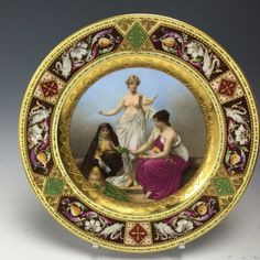 19TH CENTURY ROYAL VIENNA PLATE : Lot 0009