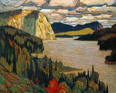 'The Solemn Land' by Canadian painter J. MacDonald member of the Group of Seven. via rose briar Tom Thomson, Emily Carr, Canada Landscape, Landscape Art, Landscape Paintings, Landscapes, Impressionist Landscape, Landscape Edging, Small Paintings