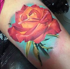 Red-Rose-Tattoo-Design-by-Michelle-Maddison.jpg (640×625)