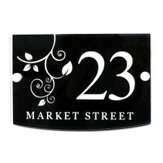 House Sign / Address Plaque Plate Modern with Door Number by UK Sign Shop, http://www.amazon.co.uk/dp/B007QKFQY2/ref=cm_sw_r_pi_dp_wMLztb1SCKW52
