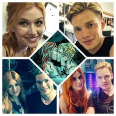 Fan art and cast photo of Clace.