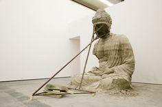 Zhang Huan Berlin Buddha (2007) incense ash