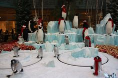 Animated penguins at the Bellagio Conservatory skate around for your pure enjoyment during the holiday season