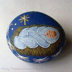 Sleeping Baby Jesus (Painted Rocks by Cindy Thomas) Tags: christmas nativityscene rockpainting paintedrocks cindythomas