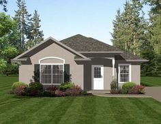 House Plan 96704 | Traditional Plan with 1013 Sq. Ft., 2 Bedrooms, 2 Bathrooms