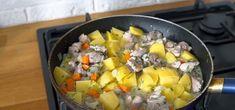 Pulpă de curcan înnăbușită cu cartofi în sos de smântână și usturoi. O savoare nelimitată! - Retete-Usoare.eu Fruit Salad, Potato Salad, Potatoes, Ethnic Recipes, Food, Fruit Salads, Potato, Essen, Meals