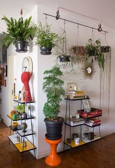 35 Amazing Indoor Garden For Apartment Design Ideas And Remodel. If you are looking for Indoor Garden For Apartment Design Ideas And Remodel, You come to the right place. Here are the Indoor Garden F. Hanging Plants, Indoor Plants, Diy Hanging, Indoor Gardening, Hanging Bar, Gardening Tips, Indoor Plant Hangers, Photo Hanging, Plant Hooks