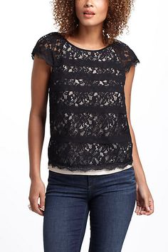 Scalloped Lace Top #anthropologie