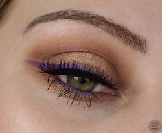 eye make up purple eyeliner + falshe mink lashes review make up look