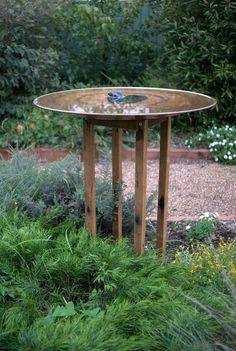Australian Garden Design, Modern Garden Design, Backyard Garden Design, Landscape Design, Modern Design, Diy Bird Bath, Bird Bath Garden, Meadow Garden, Garden Pond
