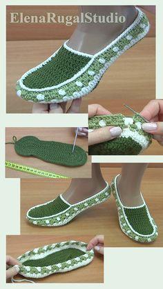 Crochet Baby Sandals, Crochet Boots, Crochet Tunic, Crochet Slippers, Crochet Slipper Pattern, Crochet Patterns, Diamond Shoes, Diy Clothes And Shoes, Shoe Pattern