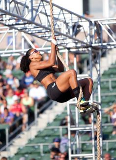 (Elisabeth Akinwale) crossfit rope climb - after completing it was the proudest I've felt at crossfit!