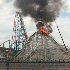 The fire's out, and most of the coaster is still intact. The blaze was reportedly started, accidentally, by welders who were building the new Twisted Colossus. One of Six Flags' most famous roller coasters … the Colossus went up in flames Monday — just weeks after the classic ride was shut down. The fire engulfed a big chunk of the coaster's track … burning completely through the wood and steel.  Sept 9, 2014