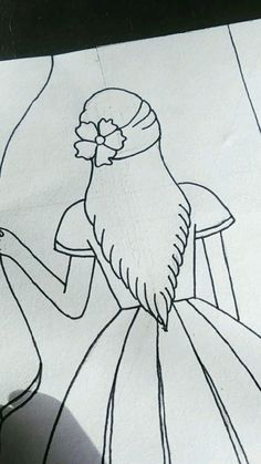 Easy Cartoon Drawings, Girly Drawings, Art Drawings For Kids, Art Drawings Sketches Simple, Pencil Drawings, Doodle Art Drawing, Mandala Drawing, Mandala Art Lesson, Doodle Art Designs