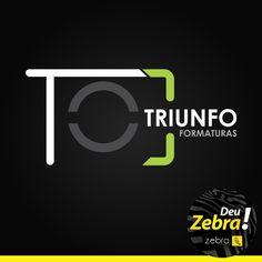 Mais uma logo que Deu Zebra! Triunfo Formaturas. Ficou linda! Não acha? #logo #Zebra #DeuZebra #Tupã #Triunfo #marca #criação