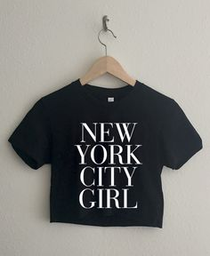 New York City Girl Vogue Short Sleeve Cropped T Shirt