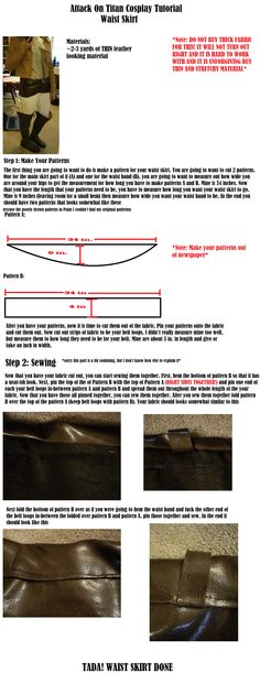 Attack On Titan Waist Skirt Tutorial by CasuallyDisregarding.deviantart.com on @deviantART