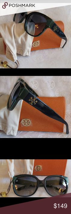 NWT Tory Burch Sunnies Ty7096 Navy Blue Gradient NWT Tory Burch Sunnies Ty7096 1598/4l  Time for some new fabulous authentic designer shades!!  Frame: Navy Blue Turquoise  Lens: Blue Gray Gradient  These are PERFECT Flawless NEVER even worn or tried on. It's just reflections that might make they look like there are issues, they are again Perfect!  Comes with original bag with tags from Luxottica, case and dust bag.  All of my items are Guaranteed 100% Genuine I do not sell FAKES of any kind…