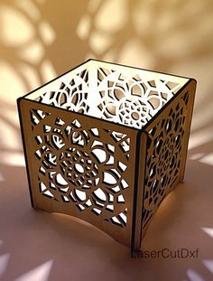 Candle holder dxf files ready to Laser cut, Tea light candle holder digital templates, DXF SVG cdr a Laser Cut Box, Laser Cutting, Laser Cutter Ideas, Cnc Router Machine, Lotus Mandala, Cnc Projects, T Art, Tealight Candle Holders, Mandala Pattern