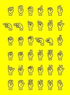 Incredibly useful sign language poster by Yong Wen Yeu. #signlanguageposter