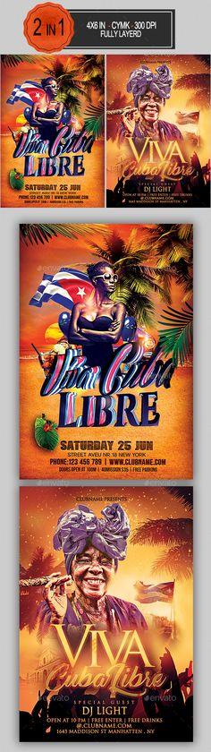 viva cuba libre flyer bundle