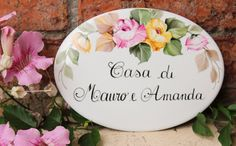 Hey, I found this really awesome Etsy listing at https://www.etsy.com/uk/listing/206739739/custom-porcelain-roses-house-plaque