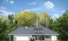 Projekt domu Wyjątkowy 2 - 201.09 m2 - koszt budowy 361 tys. zł Planer, Bungalow, Portal, Garage Doors, Shed, Villa, Outdoor Structures, Cabin, Contemporary