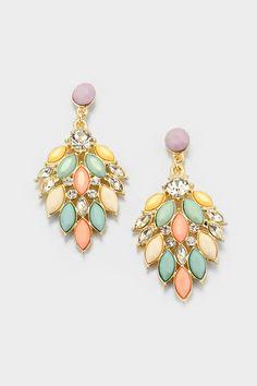 Fia Chandelier Earrings on Emma Stine Limited