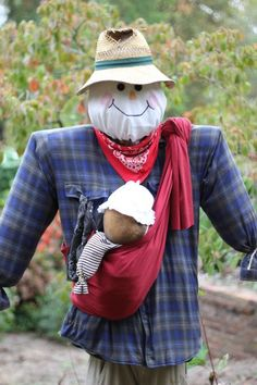 I need to plant  a garden quick bc I want a babywearing scarecrow