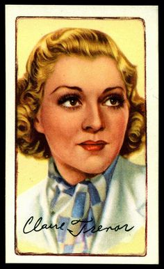 Cigarette Card - Actress, Claire Trevor | Flickr - Photo Sharing!