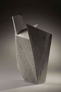 Kishi Eiko - Rectangular, leaning form with colored clay inlays, 2007