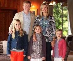 Prince Willem-Alexander and his family