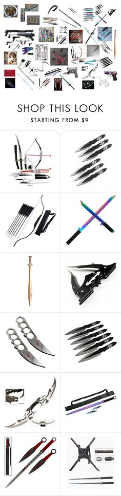 """Weapons vault"" by evangalina on Polyvore featuring Kirito, Bow & Arrow and Whetstone Cutlery"