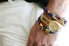 accessorize.  I've noticed more men are wearing jewelry.