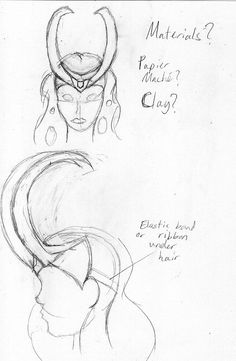 Lady Loki Headpiece Sketch by ~MarissaSunshine on deviantART