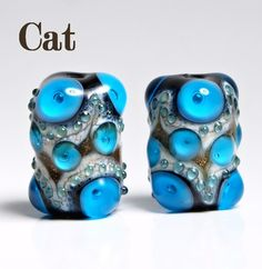 Handmade Lampwork Bead Set by catlampwork on Etsy, $12.00
