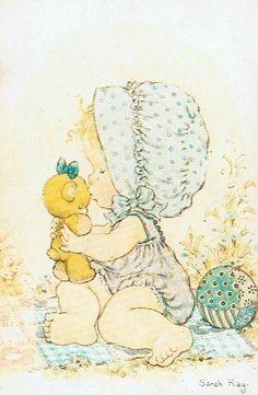Sarah Kay: Baby girl and her teddy bear