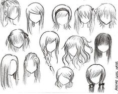 How to draw females hair
