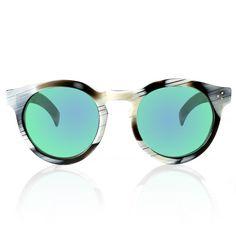 Leonard Horn with Green Mirrored Lenses #illesteva #Round
