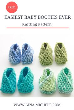 FREE Knitting Pattern for the EASIEST BABY BOOTIES EVER! They're knit flat and then seamed. No heel shaping!