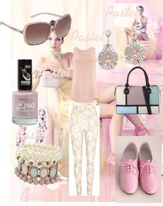 """Pastel clothes for spring!"" by ema1551 ❤ liked on Polyvore"