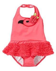 a13255edb77f2 Cannot wait to see my baby wrapped up in this flamingo bathing suit Baby  Swimming,
