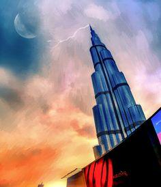 View of Burj Khalifa, Dubai from fountain area. Ilesh Shah Photography
